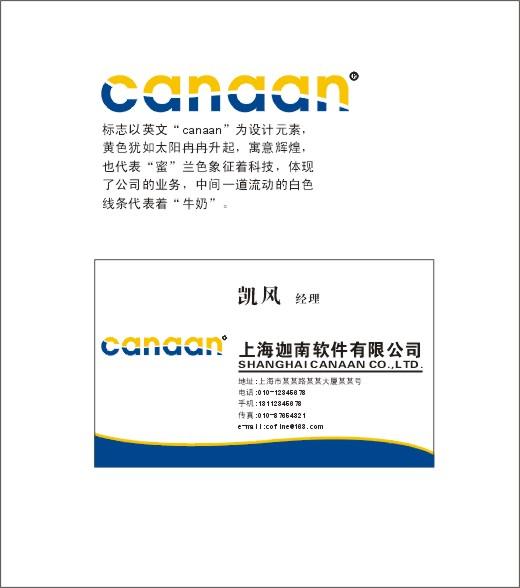 软件公司logo和名片设计
