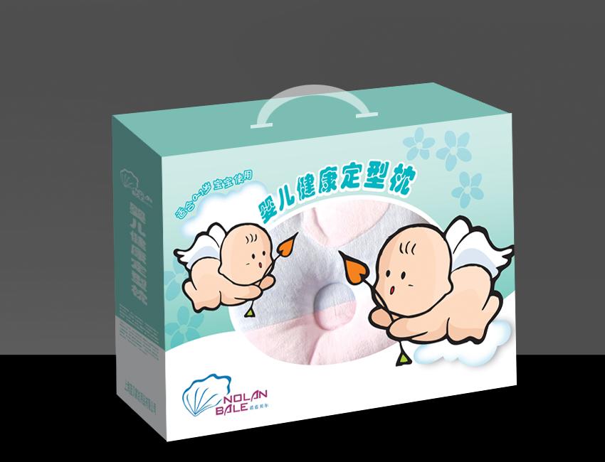 蓝贝家纺--婴儿健康定型枕包装设计