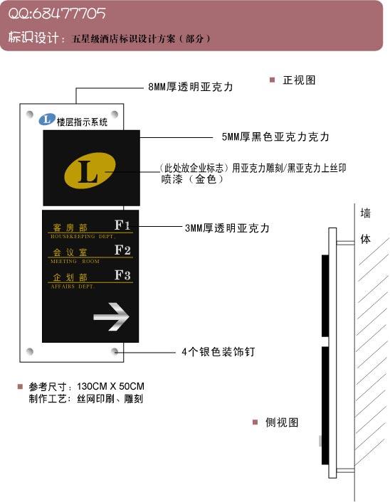 五星级酒店标识-标牌设计方案