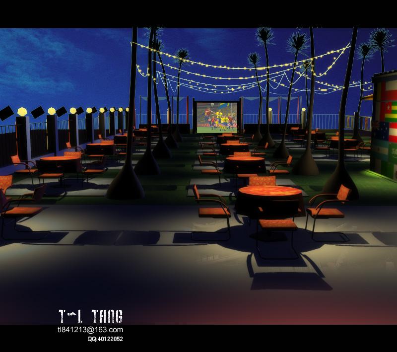 露天酒吧效果图设计