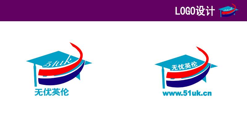 logo说明:使用了英国国旗的色调,感觉简明和明快.
