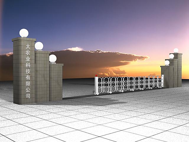 小型工厂大门效果图 工厂大门景墙 小工厂大门
