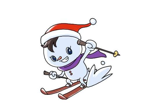滑雪场卡通形象设计