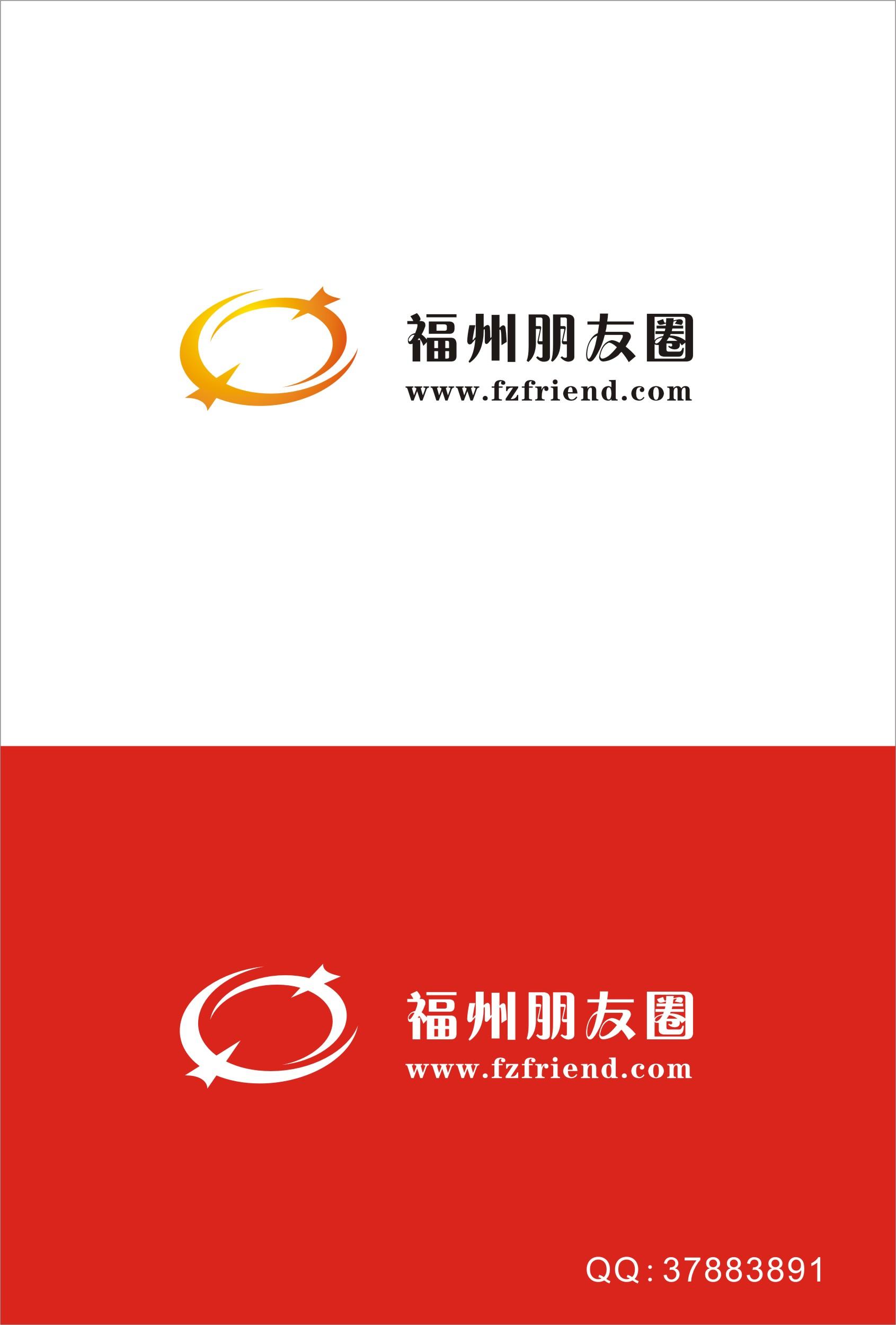 """""""福州朋友圈""""网站logo设计"""