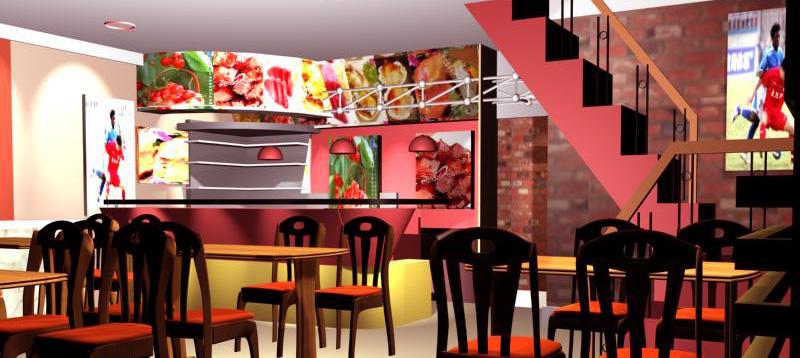 小型港式茶餐厅店面及外立面装潢