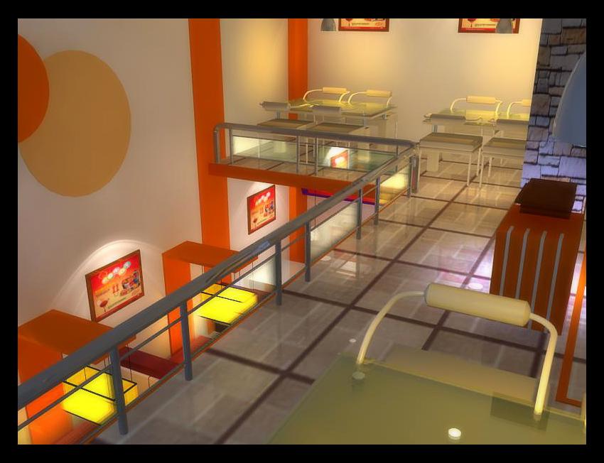 快餐门头效果图-小型港式茶餐厅店面及外立面装潢 792元 K68威客任务