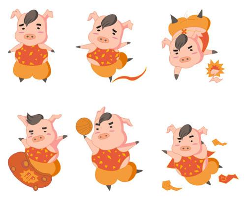 卡通猪形象设计