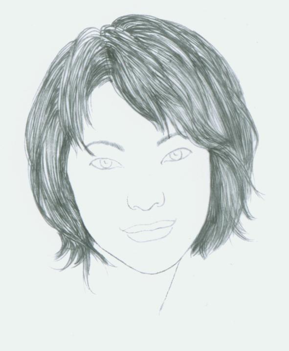 怎么画脸型图素描步骤