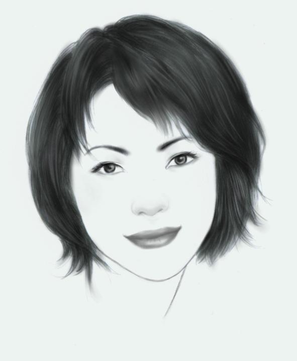 简单卡通少女素描图图片 卡通少女素描人物画,卡通少女素描