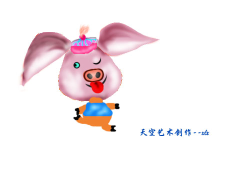 可爱小猪的卡通形象征集(要原创)